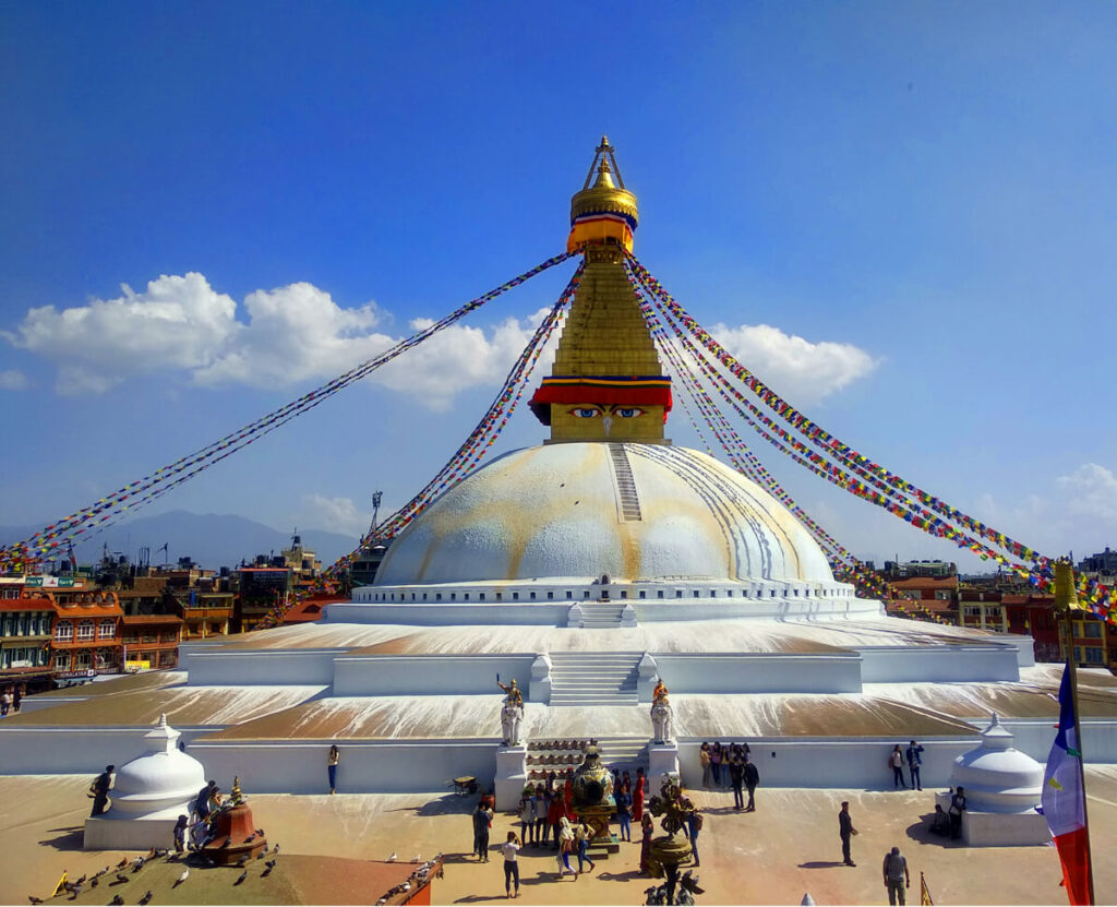 Baudhanath Stupa which is located in Province 3 of Nepal