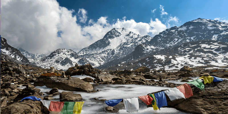 Gosaikunda Lake which is located in Province 3 of Nepal.