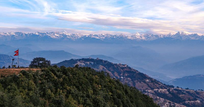 Nagarkot which is located in Province 3 of Nepal