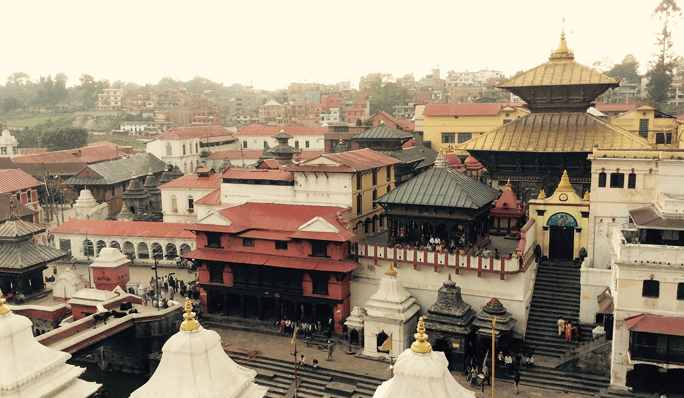 Pashupatinath Temple which is located in Kathmandu of Nepal