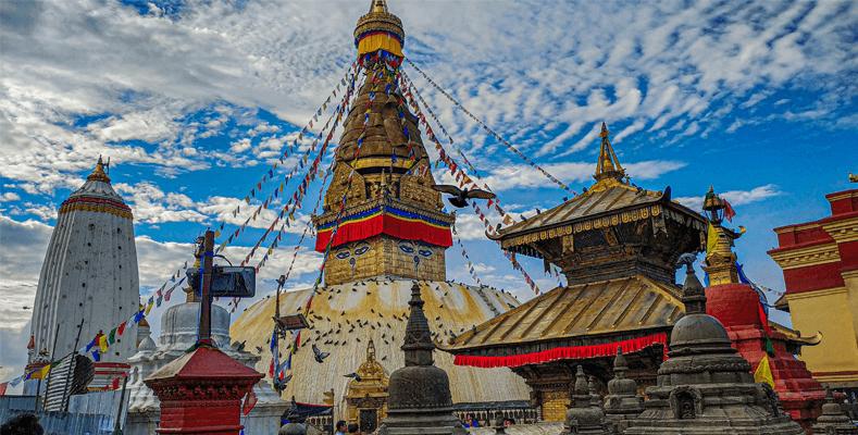 Swayambhunath Stupa which is located in Province 3 of Nepal