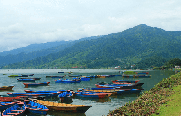 Phewa Lake which is located in Province 4 of Nepal