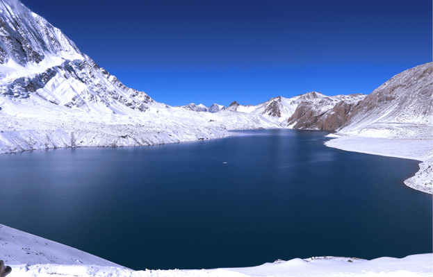 Tilicho Lake which lies in Province 4 of nepal