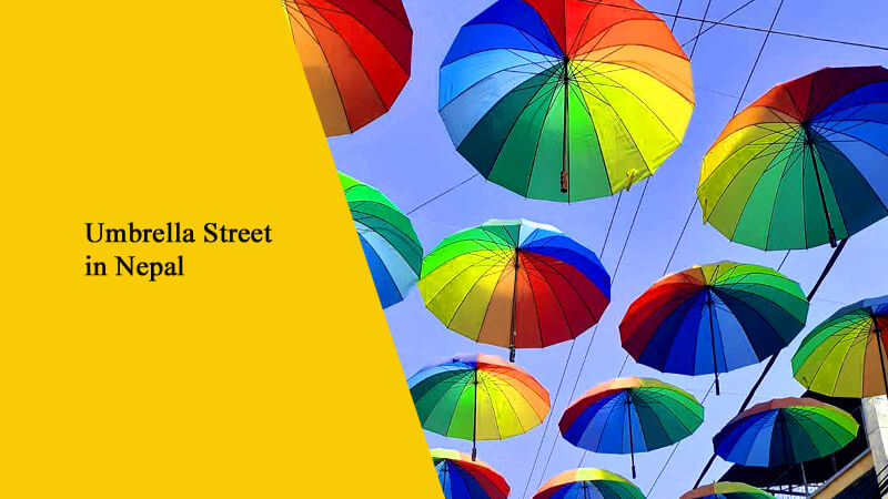 Umbrella Street in Nepal